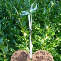 Personalised Engraved Hanging Oak Heart